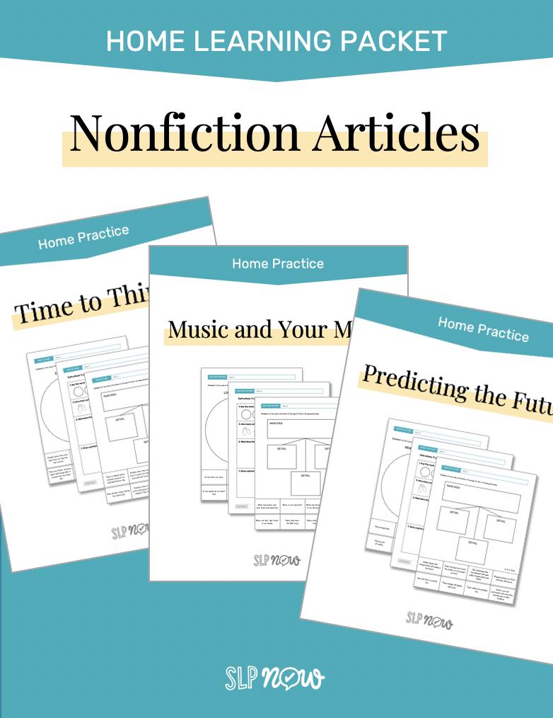 SLP Now Nonfiction Article